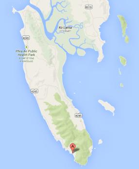 Baan Phu Lae Location on Ko Lanta
